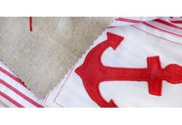 Аппликация на ткани с помощью швейной машины
