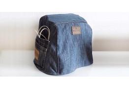 Чехол швейной машины с карманами из старых джинс