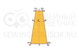 Построение выкройки клиньевой юбки