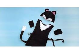 Карнавальный костюм котёнка с ушками и хвостом