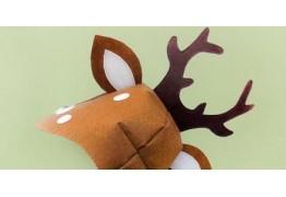 Карнавальный костюм оленёнка: шапочка с рожками
