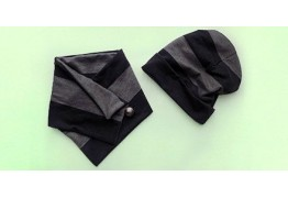 Трикотажная шапка и шарф