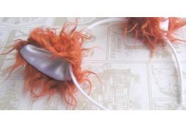Меховые ушки для карнавального костюма на обруче