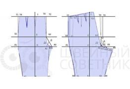 Построение выкройки-основы брюк