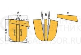 Построение выкройки кармана с мягкими складками