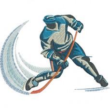 Дизайн машинной вышивки Хоккей скачать