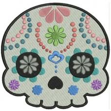 Дизайн машинной вышивки Сахарный череп 3 скачать