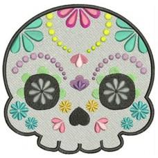 Дизайн машинной вышивки Сахарный череп 4 скачать