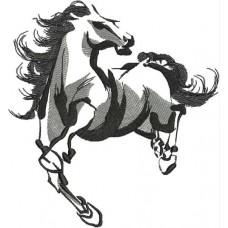 Дизайн машинной вышивки Конь 3 скачать