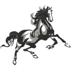 Дизайн машинной вышивки Конь 5 скачать