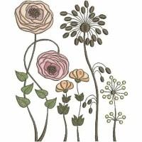 Дизайн машинной вышивки Цветочки 1 скачать