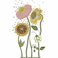 Дизайн машинной вышивки Цветочки 3 скачать