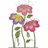 Дизайн машинной вышивки Цветочки 4 скачать