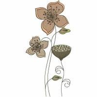 Дизайн машинной вышивки Цветочки 6 скачать