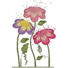 Дизайн машинной вышивки Цветочки скачать