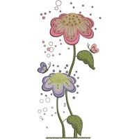 Дизайн машинной вышивки Розовый и сиреневый скачать