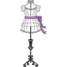Дизайн машинной вышивки Мини-коллекция Старинные манекены скачать