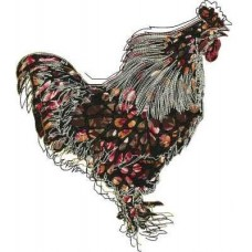 Дизайн машинной вышивки Курица скачать