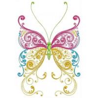 Дизайн машинной вышивки Россыпь бабочек скачать