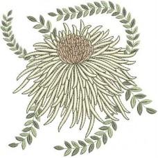 Дизайн машинной вышивки Цветок хризантемы скачать