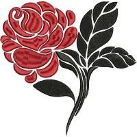 Роза в красном и чёрном