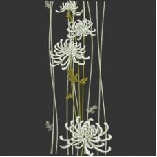 Дизайн машинной вышивки Хризантемы скачать