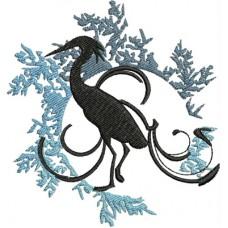 Дизайн машинной вышивки Четыре птицы скачать