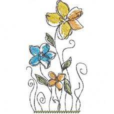 Дизайн машинной вышивки Цветы скачать