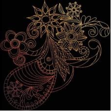 Дизайн машинной вышивки Индийская хна 1 скачать