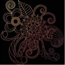 Дизайн машинной вышивки Индийская хна 4 скачать