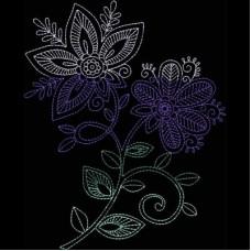 Дизайн машинной вышивки Индийская хна 5 скачать