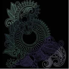 Дизайн машинной вышивки Индийская хна 6 скачать