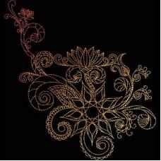 Дизайн машинной вышивки Индийская хна 9 скачать