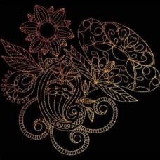 Дизайн машинной вышивки Индийская хна 11 скачать