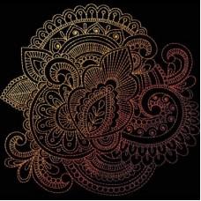 Дизайн машинной вышивки Индийская хна 12 скачать