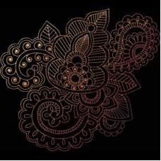 Дизайн машинной вышивки Индийская хна 14 скачать