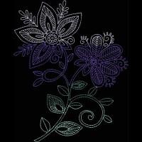 Дизайн машинной вышивки Индийская хна скачать