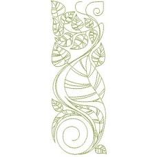 Дизайн машинной вышивки Листья скачать