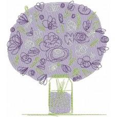 Дизайн машинной вышивки Сиреневый букет скачать