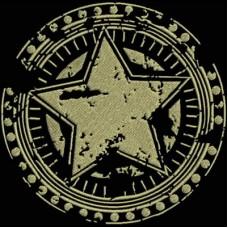 Дизайн машинной вышивки Штамп Gold Star скачать