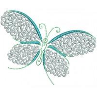 Бабочка с завитками