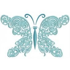 Дизайн машинной вышивки Бабочка в полёте скачать