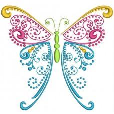 Дизайн машинной вышивки Бабочка Свиток скачать