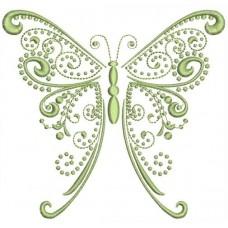 Бабочка Свиток однотонная