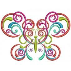 Бабочка Цветные завитки