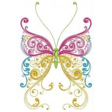 Бабочка трёхцветная