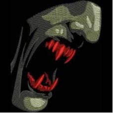 Дизайн машинной вышивки Зубы вампира скачать