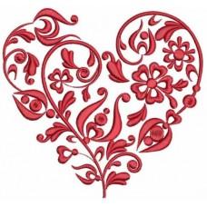 Дизайн машинной вышивки Цветочное сердце скачать