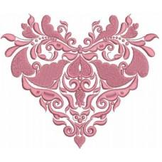 Дизайн машинной вышивки Шёлковое сердце скачать