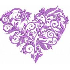 Дизайн машинной вышивки Шёлковое сердце 2 скачать